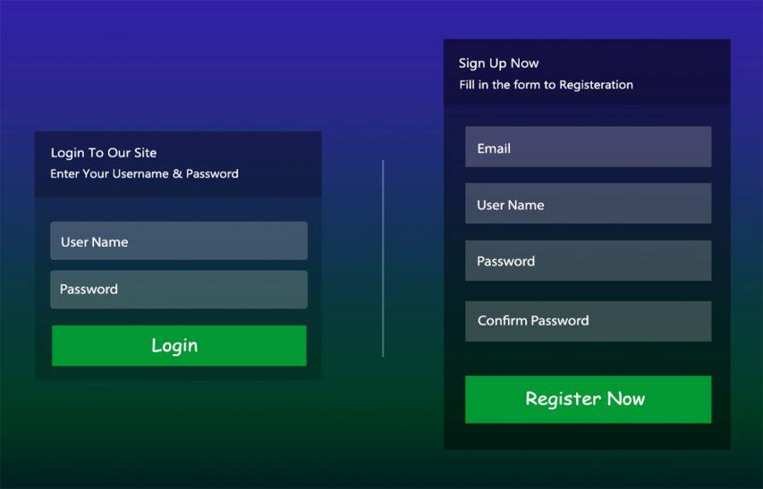 Free Signup Login Form UI Kit Free PSD at FreePSD cc