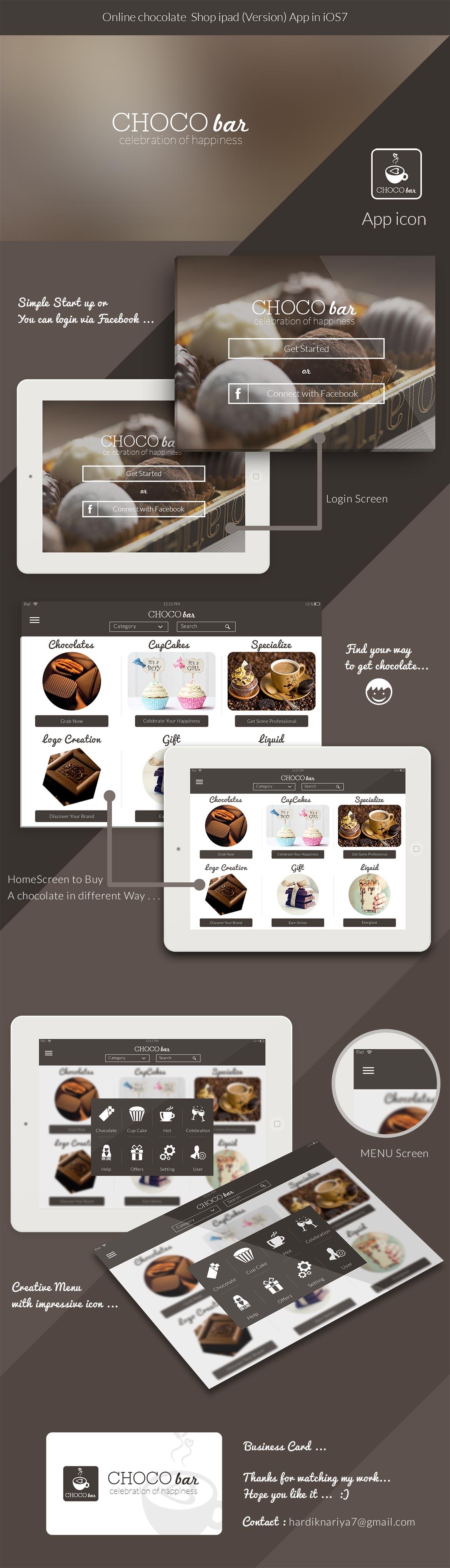 Bakery Store IPad App UI Kit Free PSD