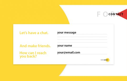 Contact Form UI Free PSD