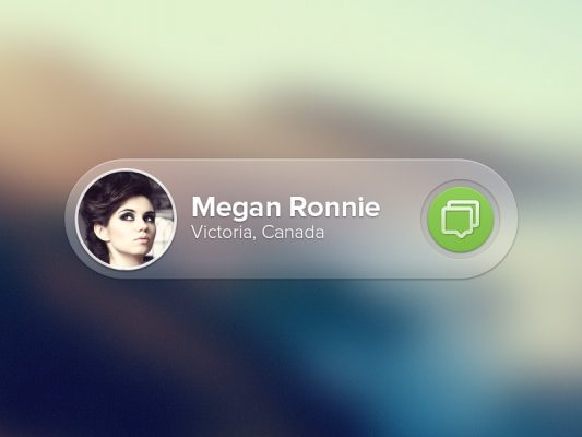 Translucent Message Notification UI Free PSD