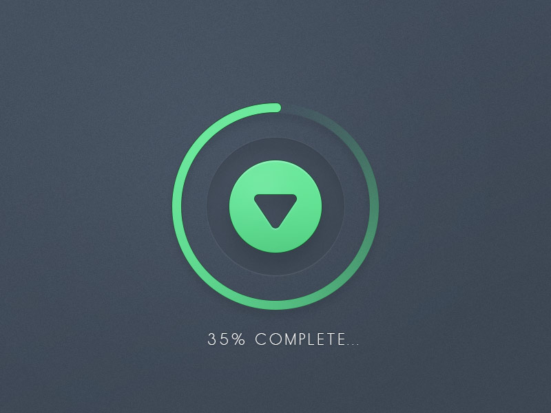 Download Progress Button UI Free PSD