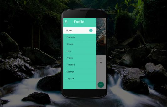 Mobile Profile Menu UI Free PSD