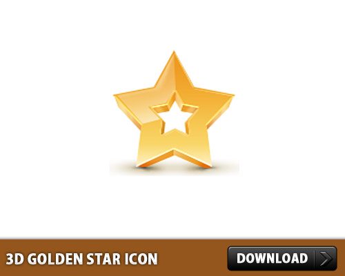 3D Golden Star Icon L