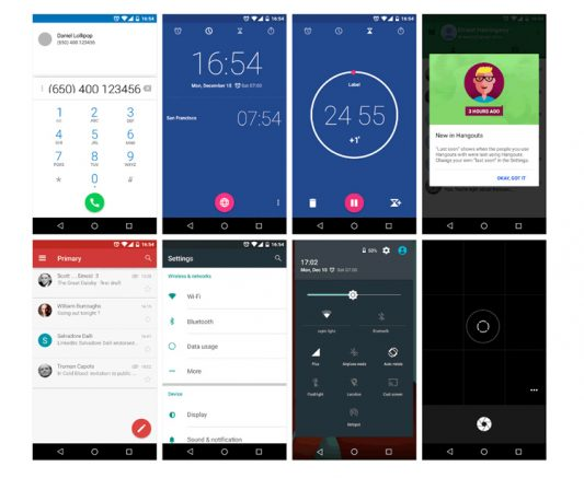 Android Lollipop UI Design Kit Free PSD