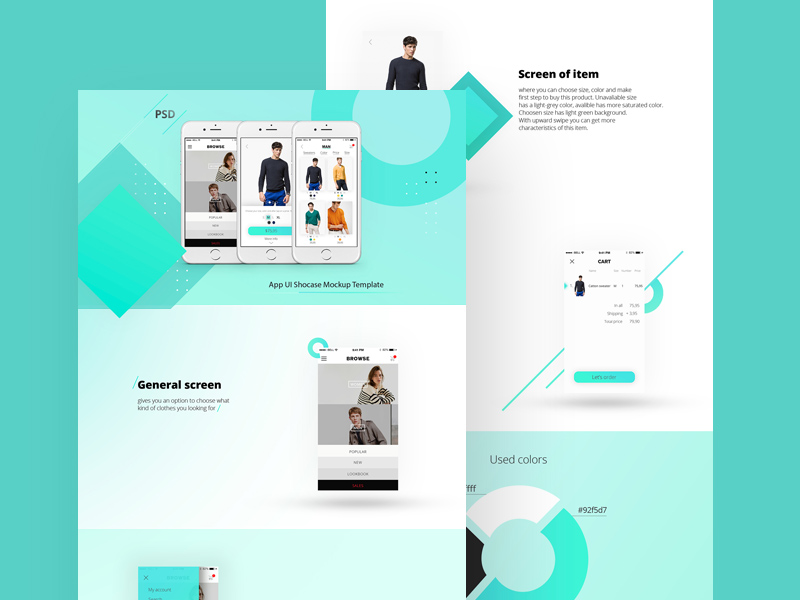Free App Landing Page Template Free PSD at FreePSD.cc