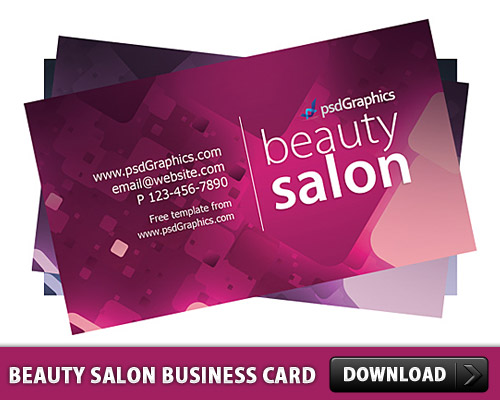 Free beauty salon business card template free psd at freepsd friedricerecipe Choice Image
