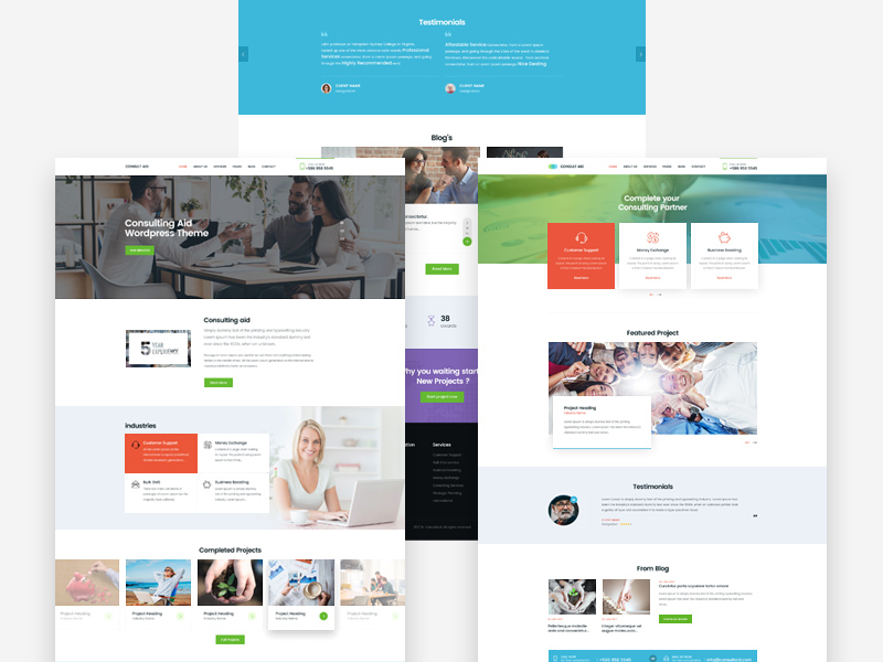 Free business consultancy website templates free psd at freepsd flashek