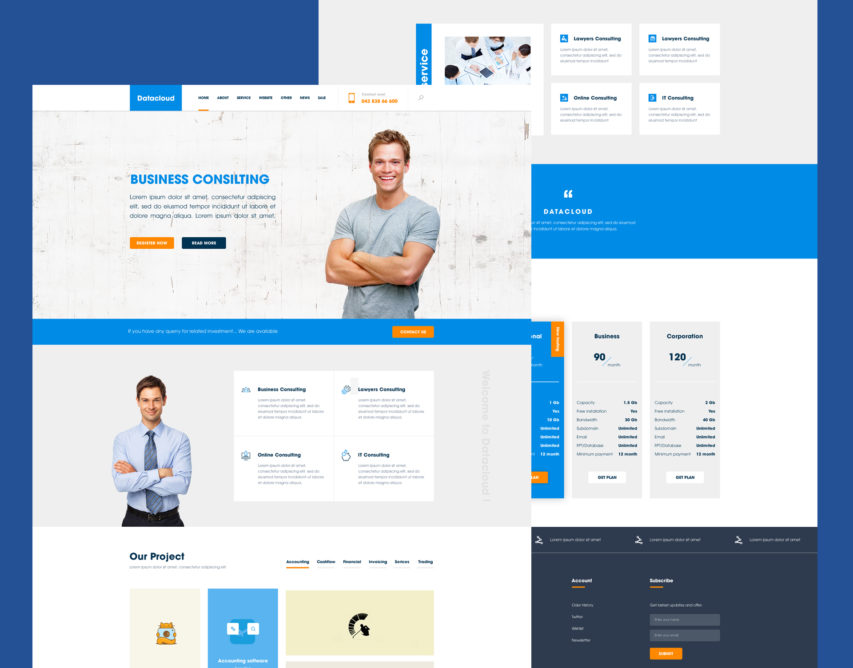 Free business consulting website template free psd at freepsd pronofoot35fo Choice Image