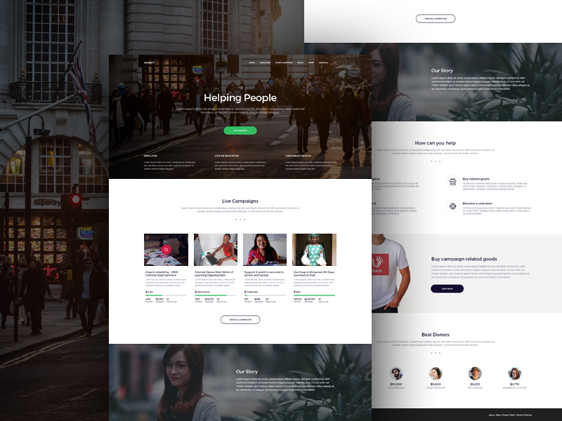 Free Charity Organisations Website Template Free PSD at FreePSD.cc