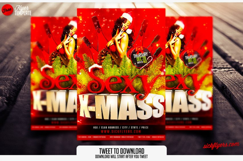 Free Christmas Flyer Template Free Psd At Freepsd Cc