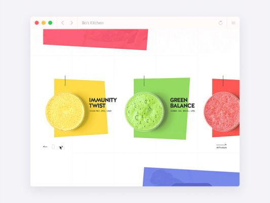 Colorful Restaurant and Food Website Template Free PSD