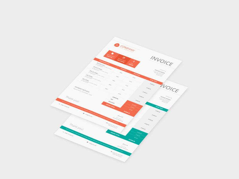 Free Company Invoice Template Free PSD At FreePSDcc - Invoice template psd