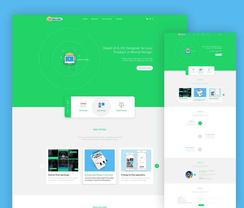 Free Company Portfolio Landing Page Template Free PSD at FreePSDcc – Company Portfolio Template