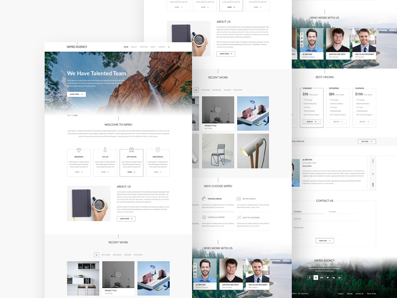 Corporate Agency Web Template PSD