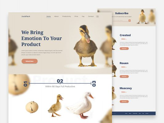 Creative Business Website Template Free PSD