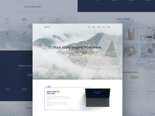 Creative Designer Website Landing Page Template Free PSD