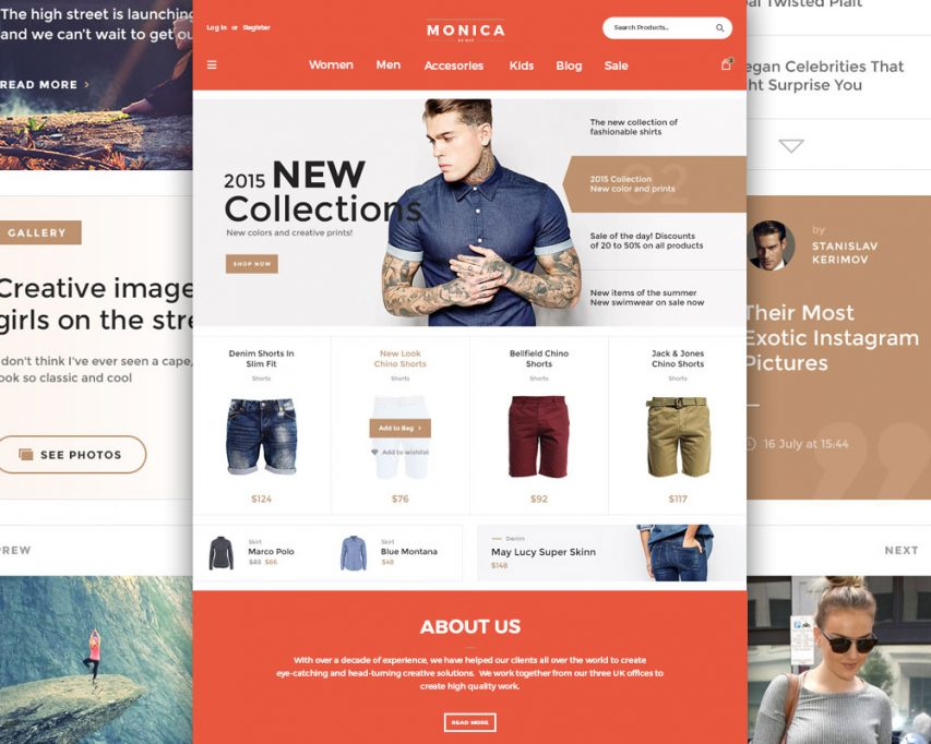 free creative fashion ecommerce website template free psd at freepsdcc