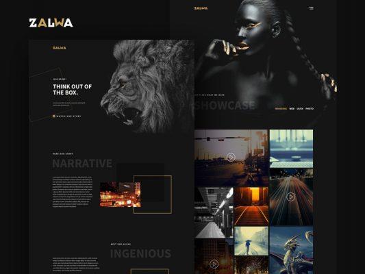 Creative Studio Website Template PSD