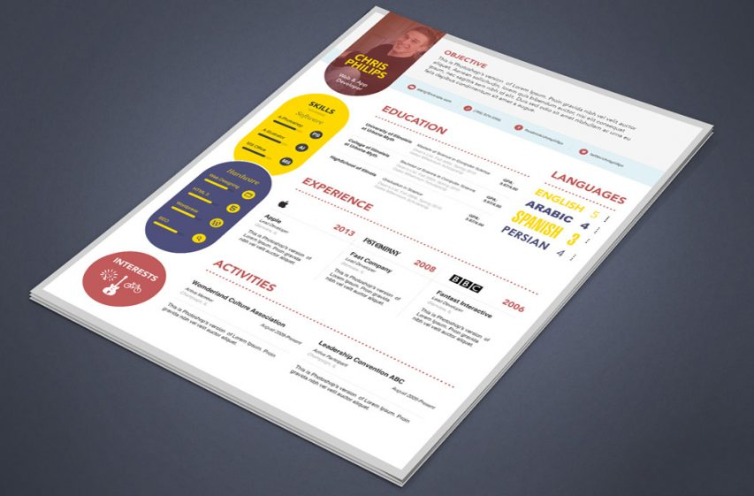 Free Creative Web Designer Developer Resume Template Psd At Freepsd Cc
