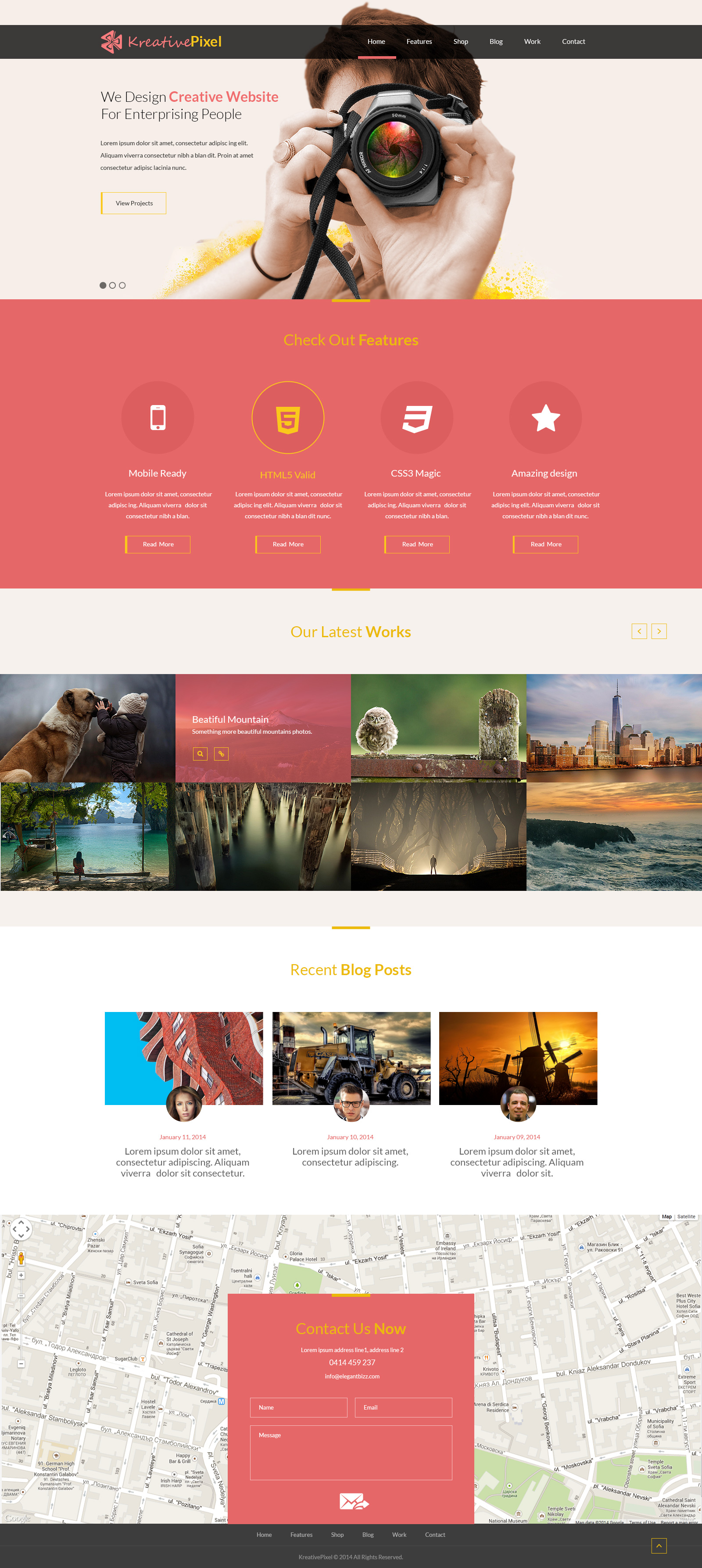 free creative website design template psd at freepsdcc