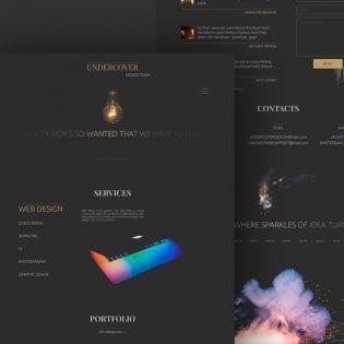 Dark Minimalistic Web Template PSD