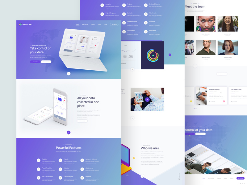 free data analytics services website template psd at freepsd cc