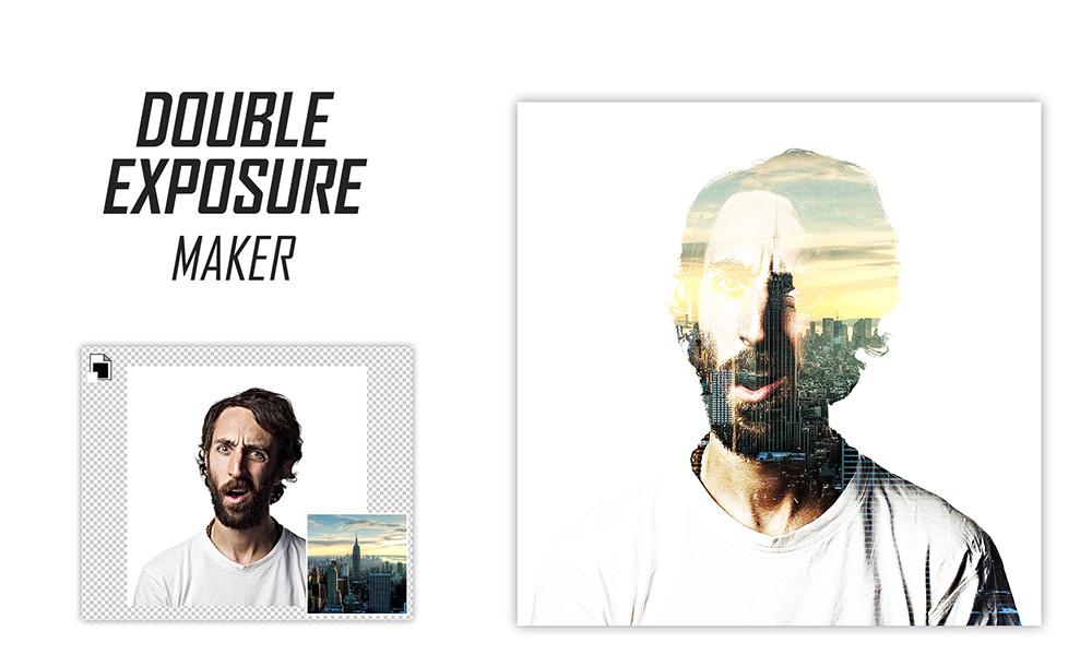 Double Exposure Effect Maker PSD Freebie