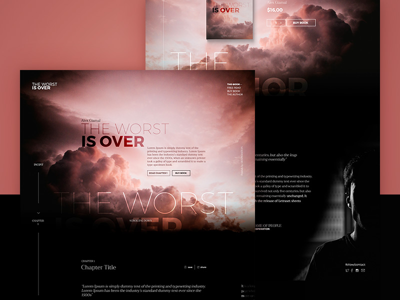 E-Book Landing Page Template Free PSD