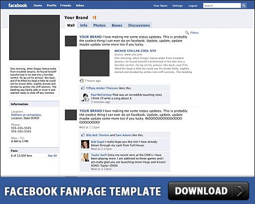 Free Facebook Fanpage Free Psd Template At Freepsd