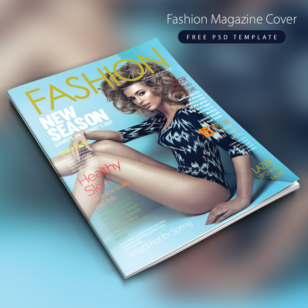 Fashion Magazine Cover Free PSD Template