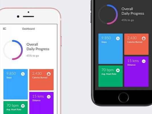 Fitness Application Dashboard UI Free PSD