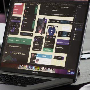 Flat Style Square UI Element Kit Free PSD