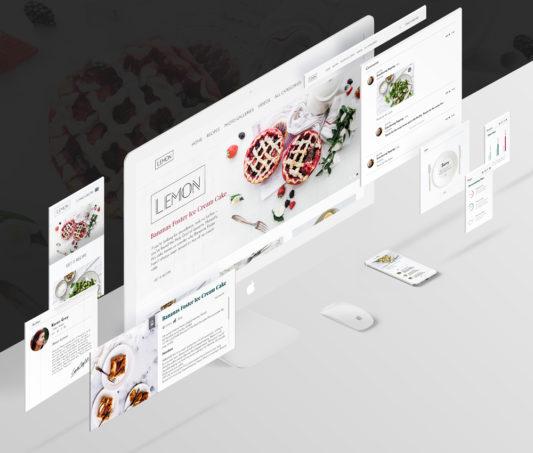 Food and Restaurant UI Kit Free PSD
