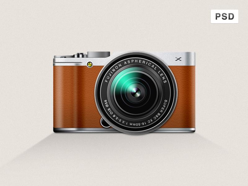 Fujifilm X-M1 Mirrorless Digital Camera Icon PSD