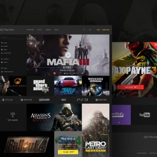 Gaming ECommerce Website Template Free PSD