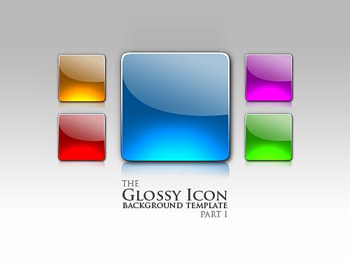 Free Glossy PSD Icons at FreePSD cc