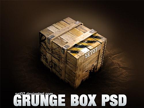 Grunge Box PSD L