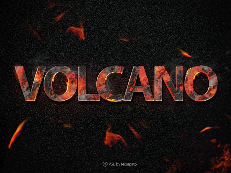 Hot Fiery Text Effect PSD Freebie