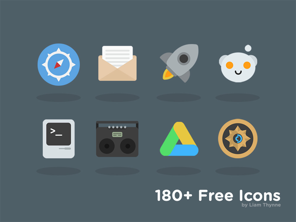 Huge Flat Icons Collection PSD Freebie