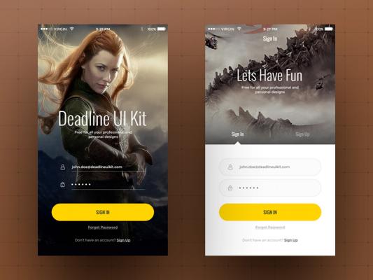 Huge Mobile UI Kit Elements Free PSD