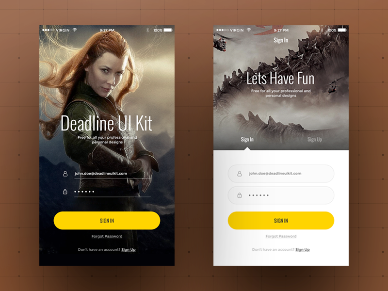 Huge Mobile UI Kit Elements Free PSD