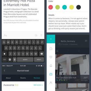 IOS App Ui Kit Elements Free PSD