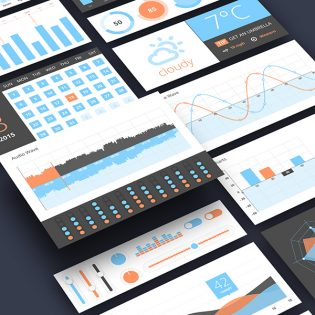 Infographics UI Components Free PSD