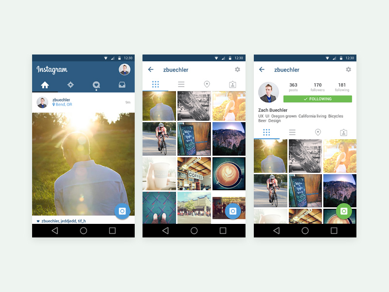 Free Instagram Mobile App Ui Template Free Psd At Freepsd Cc
