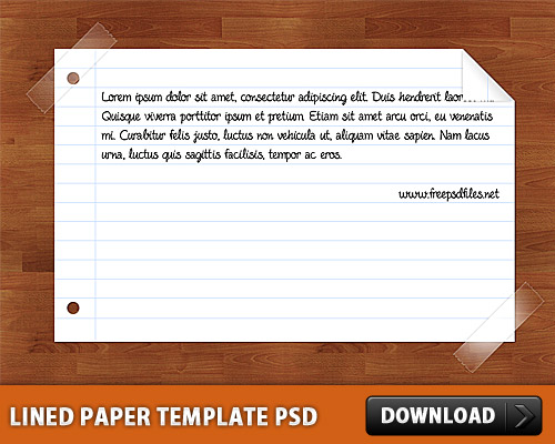 free lined paper template