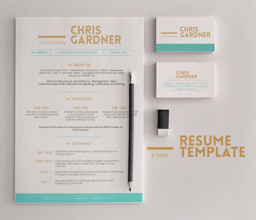 Free minimalistic free resume and business card template for Jist card template