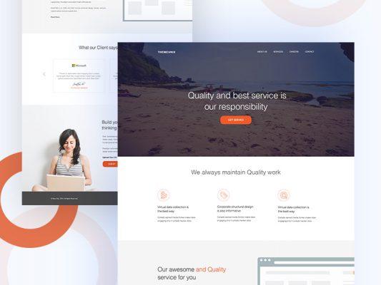 Modern Business Agency Website Template Free PSD