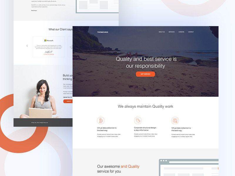 Free modern business agency website template free psd at freepsd modern business agency website template free psd wajeb Choice Image
