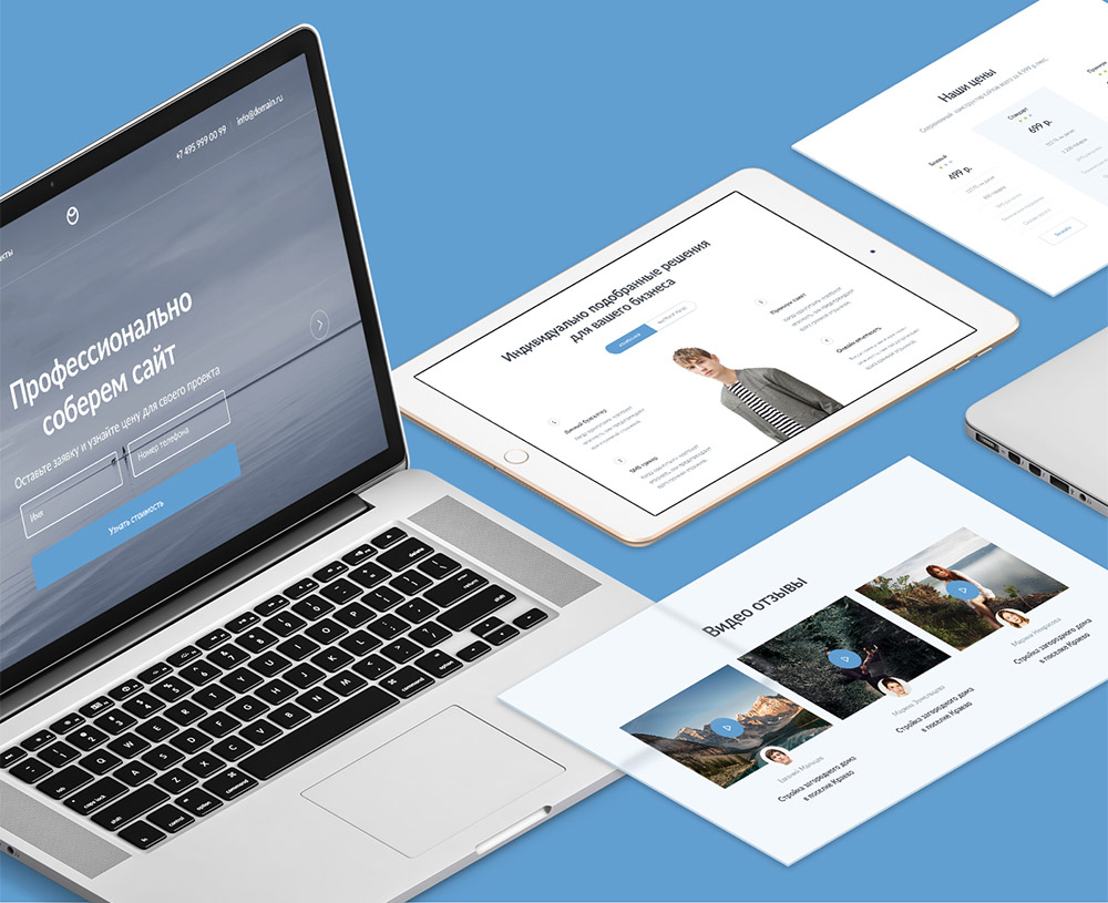 Modern Web UI Kit Elements Free PSD