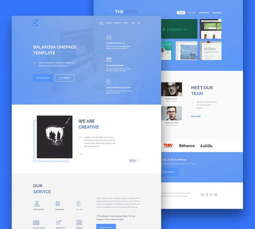 Free business website templates psd at freepsd multipurpose one page website template free psd wajeb Choice Image